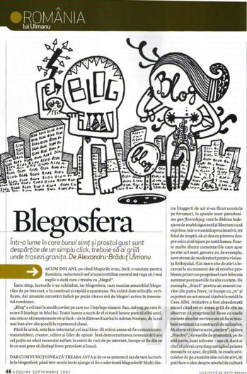 articol despre bloguri in Esquire