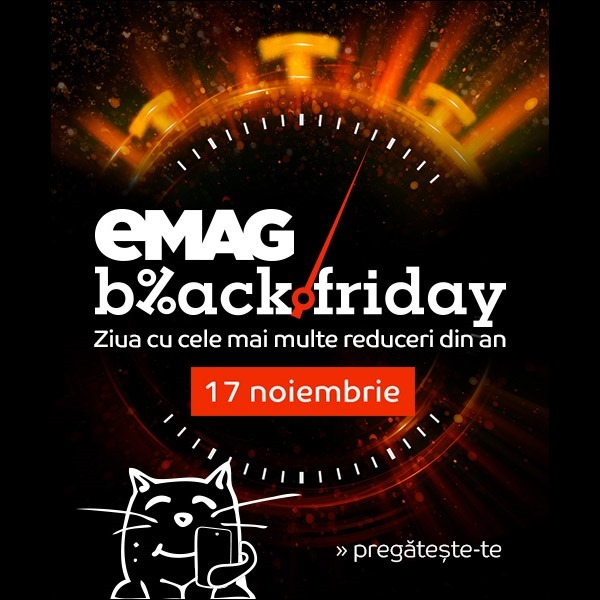 Mâine, Black Friday la eMAG!